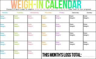 weight loss calender picture 2