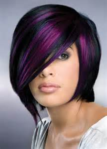 black hair with streaks and colors picture 11