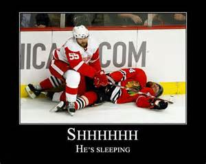 hockey sleeping picture 1