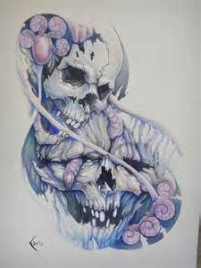 tattoos with smoke and skulls picture 5