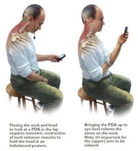 prevention of neck shoulder pain using phone picture 5