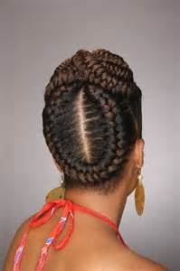 braids and curly buns hair style picture 11
