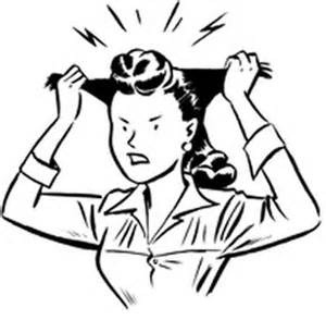 clip art of woman pull out her hair picture 2