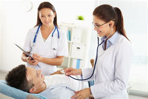 female doctors exam picture 1