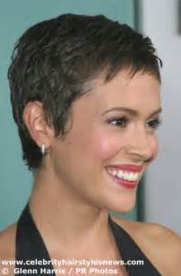 alyssa milano short hair picture 11