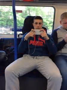 men bulge touch bus picture 3