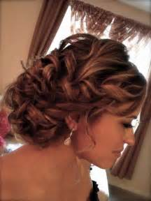 curly frizzie hair updo for wedding picture 9