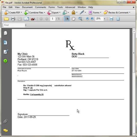 forms rx prescription sample example picture 14