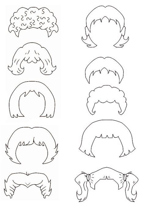 coloring pages on hair picture 1