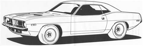 free printable muscle car art picture 10