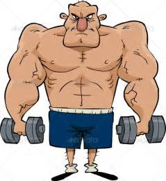 cartoon of muscle beach man picture 11