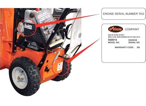 ariens model number 10970 snow thro picture 2