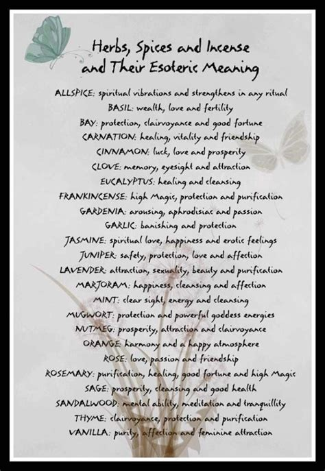 wiccan herbs and their meanings picture 1