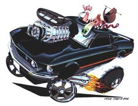 high octane muscle car drawings picture 6
