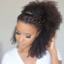 braids and curly buns hair style picture 2