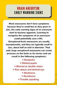 Aneurysm warning bleed low blood pressure picture 1