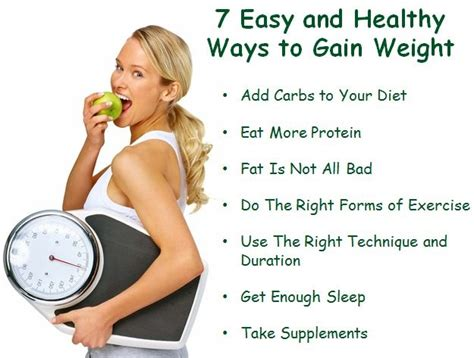tips how to quickly gain weight picture 1