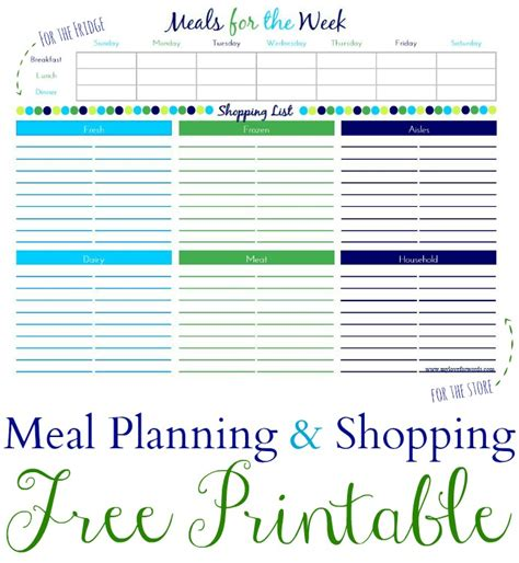 free diet plans with shopping list picture 10