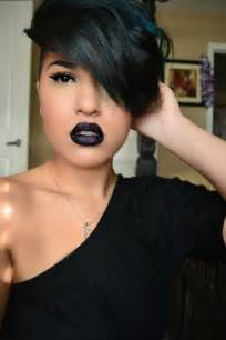 black hair photos with bangs picture 5