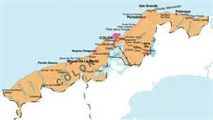 city map of isla colon panama picture 1