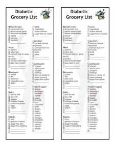 grocery list for diabetics picture 5