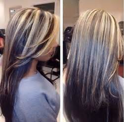blonde highlights in black hair picture 1