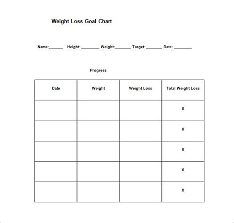 weight loss thermometer chart template picture 15