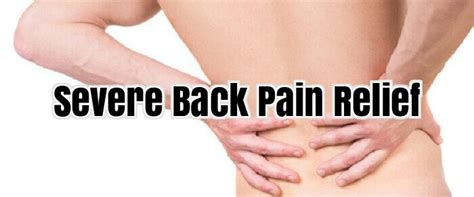 severe pain relief picture 1