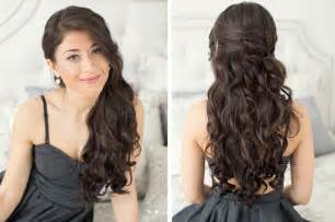 crimped hair down prom styles picture 1