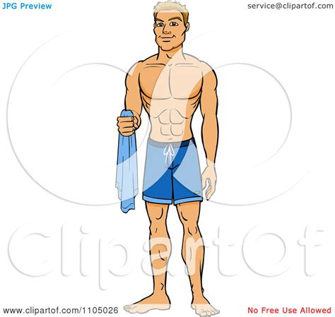 cartoon of muscle beach man picture 6