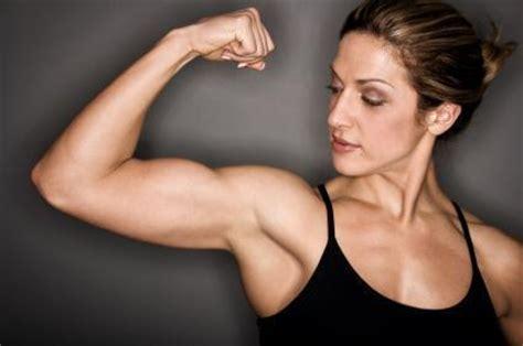 women arm wrestling flexing muscles picture 2