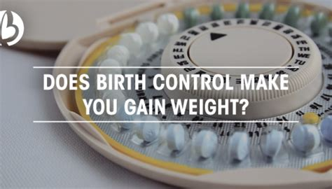 does birth control make you gain weight picture 1