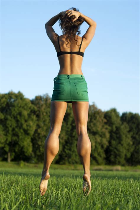 female muscle calves legs picture 13