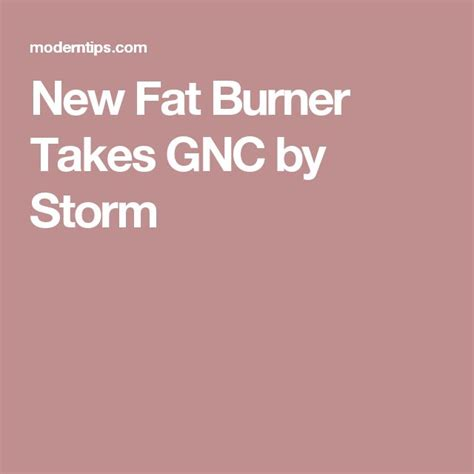 weightloss taking gnc by storm picture 1