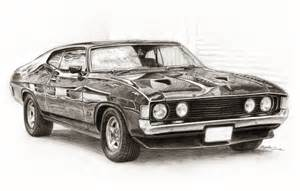 drawing old muscle cars picture 14