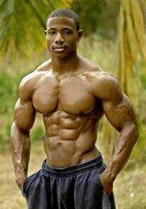 black man muscle abs picture 1