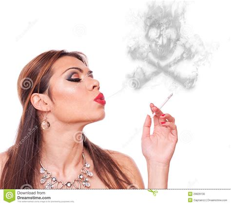 woman blowing smoke picture 7