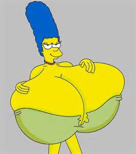 marge simpson breast growth picture 2