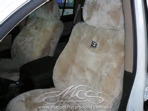 2 tone sheep skin seat covers picture 7
