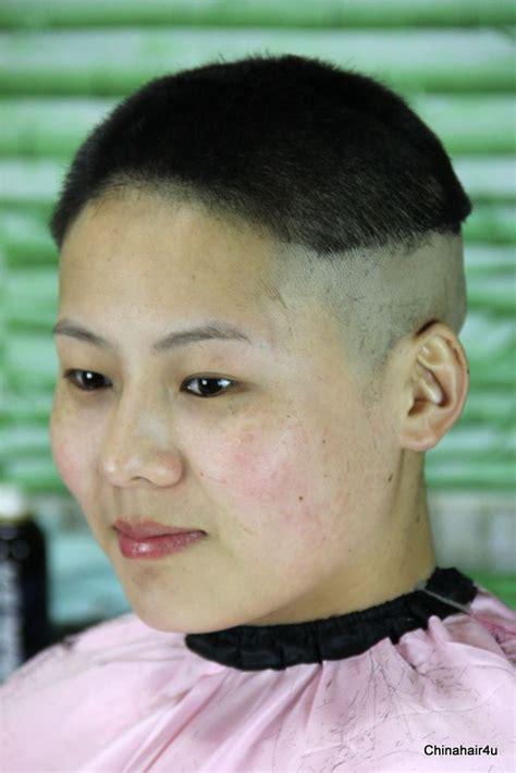 female bald head shave picture 15