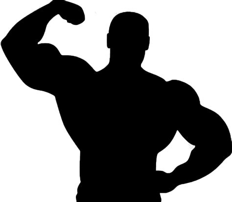 free muscle man clipart picture 6