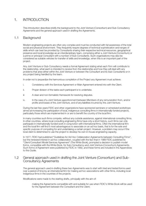 fidic joint venture consortium agreement picture 2