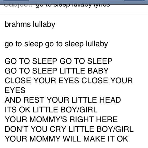 go to sleep lullabys lyrics picture 1