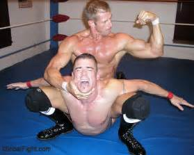 Muscle men wrestling picture 1