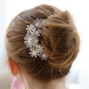 crystal flower hair clips picture 14