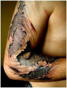 how to explain a torn ripped skin tattoo picture 1