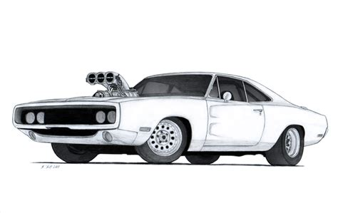 drawing old muscle cars picture 11