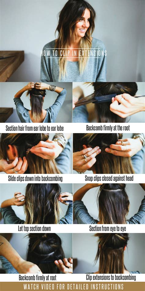 clip in hair extension tutorial picture 2