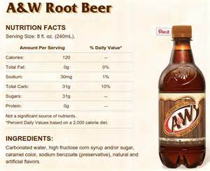a&w root beer diet ingredients picture 1