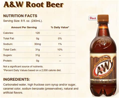a & w root beer diet ingredients picture 1